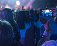 Concert with Mobile Royalty Free Stock Images