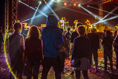 Concert. Mood at a concert in Vama Veche Royalty Free Stock Images
