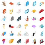 Concert number icons set, isometric style Stock Images