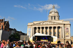Concert olympique de relais de torche de Londres 2012 Photos libres de droits