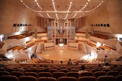 Before concert of organ music Stock Photography