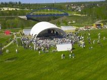 Concert outdoors. Crowd, event concert  in outdoor  park Stock Image