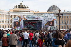 Concert on Palace Square Stock Photo