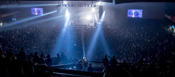 Concert panorama Royalty Free Stock Photography