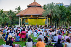 Concert in the park by Bangkok Symphony Orchestra at Lumpini par Royalty Free Stock Photography