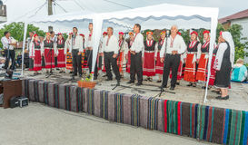 Concert of People`s Artists at the Nestinar Games in the village of Bulgarians, Bulgaria Stock Photography