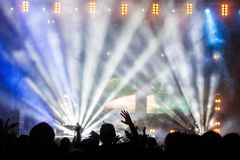 Concert Performance Audience Royalty Free Stock Photo