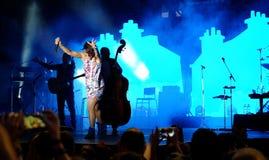 Concert of populal french singer Zaz on the Francofolies festival in Blagoevgrad, Bulgaria. 18.06.2016 Stock Photo