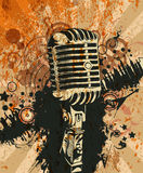 Concert poster. Vector concert poster with microphone Royalty Free Stock Photos
