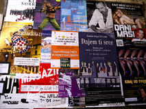 Concert posters in Dubrovnic in Croatia Europe It is one of the most delightful tourist resorts of the Mediterranean. Stock Photos