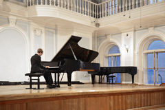 Concert in the Rachmaninov Hall. Tchaikovsky Moscow State Conservatory, Russia stock photography