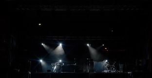 The concert is ready. A concert stage ready to start Royalty Free Stock Photography