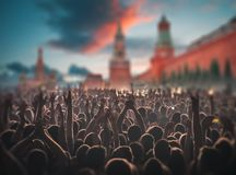 concert on Red Square in Moscow. royalty free stock image