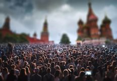 concert on Red Square in Moscow. stock photo