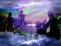Concert of Rock band Stock Photography