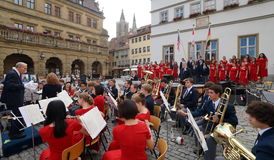 Concert in Rothenburg Stock Photo