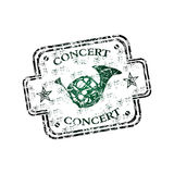 Concert rubber stamp Royalty Free Stock Photography