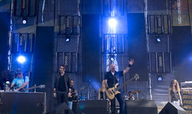 Concert of Russian rock group Stock Images