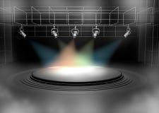 Concert scene lighting against a dark background Royalty Free Stock Image