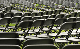 Concert seating. An abstract view, of rows of seats, before the start of a concert Stock Photography