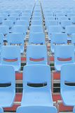 Concert seats that are vacant. Concert seats before the crowd rushes in Stock Photo