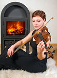 Concert on sheepskin Stock Images