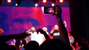 Concert smartphone music stock video