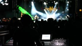 Concert And Sound Engineer stock footage