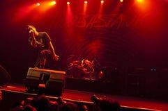 Concert sous tension de Hoobastank à Jakarta Photos stock