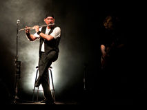 Concert sous tension de Juthro Tull Images stock