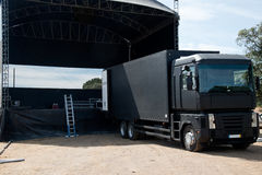 Concert Stage Building Royalty Free Stock Image