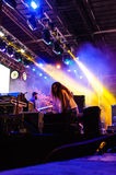 Concert Stage With Colorful Spotlights Stock Photography