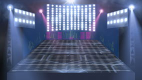 Concert stage 3d light stock video footage