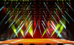 Concert stage with illumination Stock Image