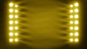 Concert_stage_light_search con le particelle (ideali per le clip di musica di fondo) stock footage