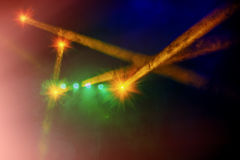 Concert stage lighting and lighting effects Stock Photos