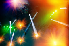 Concert stage lighting and lighting effects Royalty Free Stock Photos