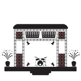 Concert stage and musical equipment. Vector illustration Royalty Free Stock Image