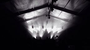 Concert stage in the night Royalty Free Stock Images