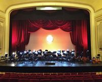 Concert stage. Opera concert stage for orchestra and singers Royalty Free Stock Photo