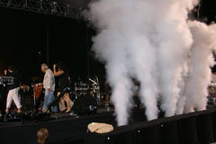 Concert stage smoke Stock Images