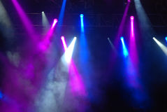 Concert Strobe Lights. Awesome colored strobe lights at a concert Stock Photos