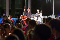 The concert in Tel Aviv. Royalty Free Stock Photos
