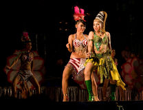 Concert at temple fair in Thailand Royalty Free Stock Photography