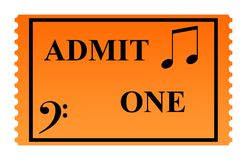 Concert Ticket Royalty Free Stock Photo
