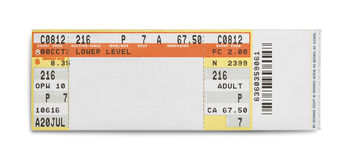 Concert Ticket Stock Image