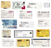 Concert tickets Stock Photography