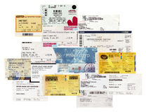 Concert tickets Stock Photos
