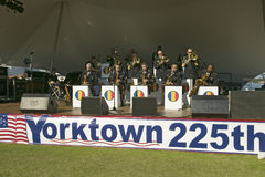 Concert by the U.S. Army Training and Doctrine Command Band, a jazz band, in Colonial National Historical Park.  Part of the 225th Stock Images