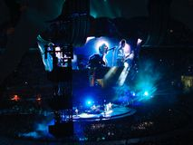 Concert U2 à Milan Images libres de droits